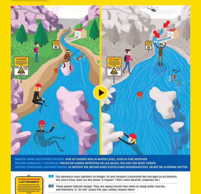 La SHEM rappelle les consignes de sécurité aux bords des ouvrages hydroélectriques