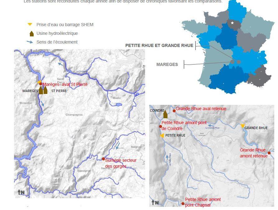 Rapport annuel suivi environnemental 2019 vallée de la Dordogne