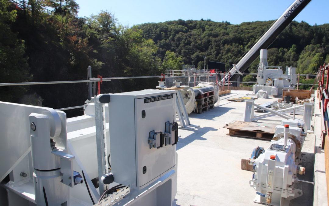 Barrage de Marèges : les travaux sur la seconde vanne de crue s'achèvent