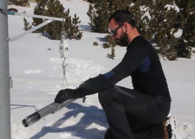 relevés de neige à la Cassagne