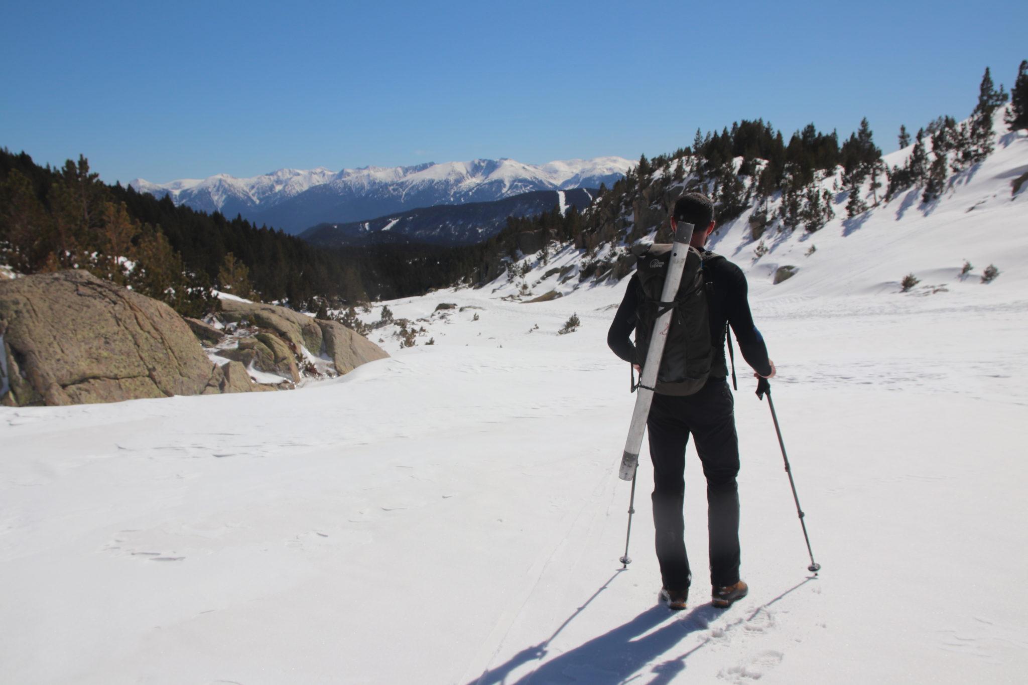 Pyrénées-Orientales : relevés de neige à la Cassagne